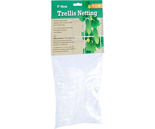 Hydrofarm HGN164 Flexible Polyethylene Trellis Netting, 4 x 16', 6