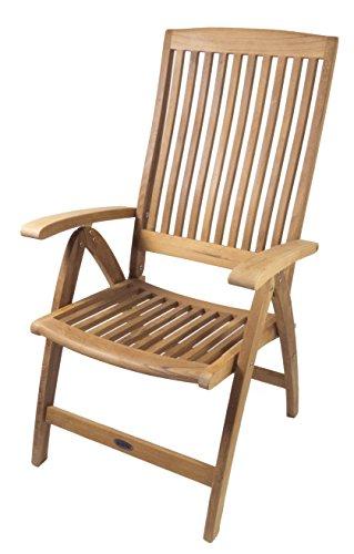 SeaTeak Weatherly Folding 6-Position Deck Armchair