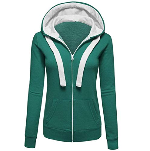 Clearance Up Hoodies Sports Zip Casual Pullover Womens Warm Autumn Green TUDUZ Jumper Jacket Hooded Sweatershirt Coat Hoody wUrqUBXT