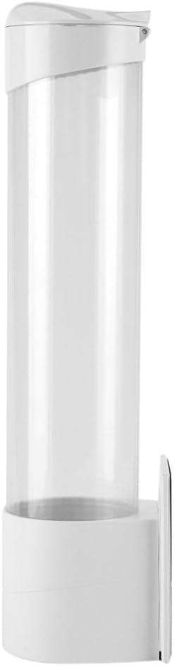 Dispensador de Vasos de Agua Dispensador de Pl/ástico Montado en La Pared para Vasos de Papel 7.5Cm 50 Vasos