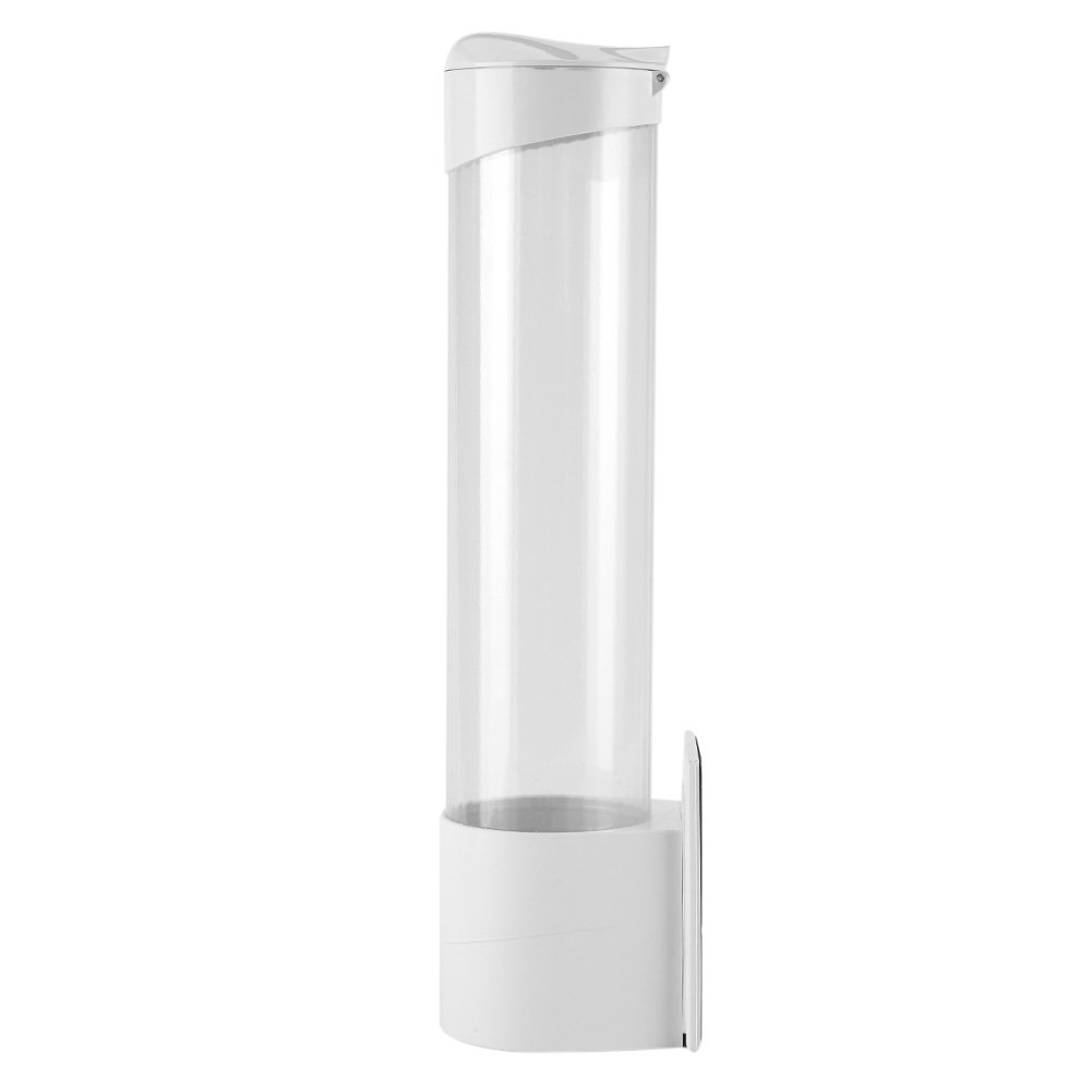 Eboxer 50 Pieces White Paper Cup Dispenser, Sanitary Cup Container, Disposable Cup Holder, Drink Drinking Water Dispenser Fountain Accessory