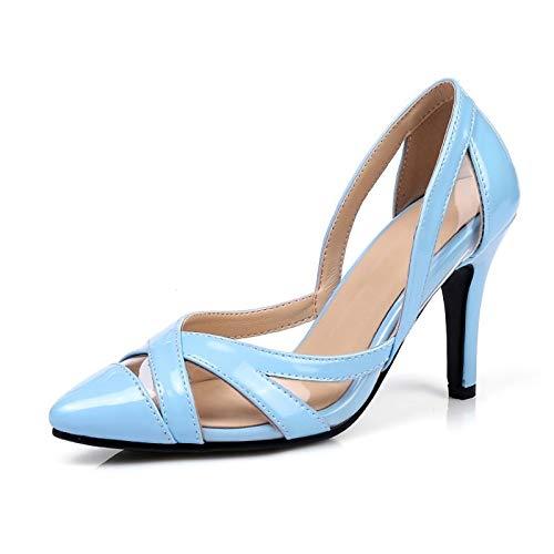 ZHZNVX Gray Basic Stiletto Suede Light Pump Heels Blue Heel Summer Purple Shoes Women's Grey z0Urz