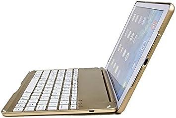 i-CaseBoard i-case06-O - Teclado con Funda integrada para Apple iPad Air, Color Bronce y Oro