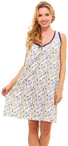 Womens Nightgown Sleeveless Cotton Pajamas product image 3bb0e4a93