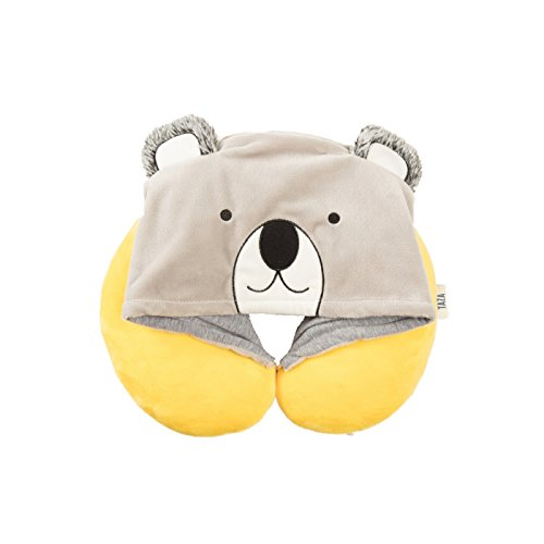 Love Taza Hooded Koala Kids' Neck Pillow - Yellow/Gray by Unknown