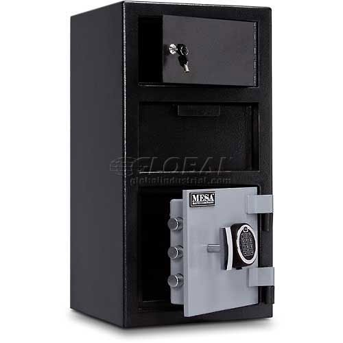 Mesa Safe MESA MFL2014E-OLK All Steel Depository Safe with Outer Locker, with Electronic Lock, 1.5-Cubic Foot, Black and Grey Black/Grey by Mesa Safe