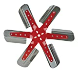 "Flex-a-lite 1308 Red Star Stainless Steel Blade 18-1/4"" Flex Fan"