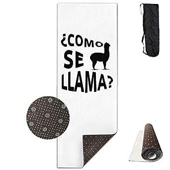 Amazon.com: Yoga Mat Non Slip Llama Alpaca Printed 24 X 71