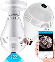 Câmera Ip Wifi Lâmpada e27 Áudio HD 360 Dia Noite Hardfast Hf01 Segurança Espião