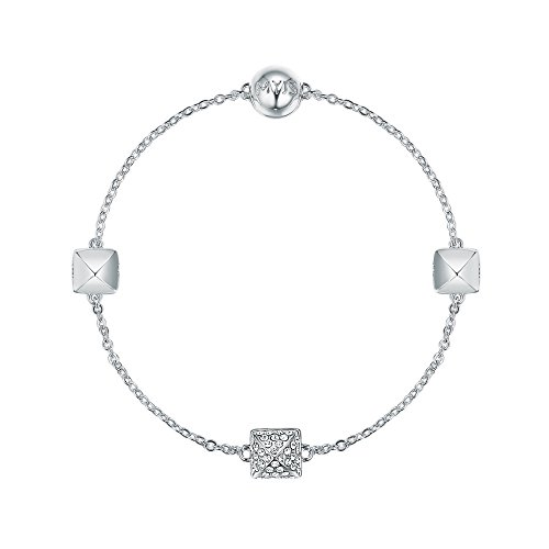 My Jewellery Story MYJS Remix Collection Pave Spike with Swarovski Crystals Rhodium Plated