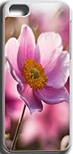 Dseason Iphone 5C case, Slim Hard Unique Design A pink flower