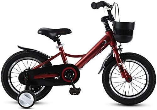 YSA キッズバイク子供用自転車男の子と女の子サイクリング、トレーニングホイール12、14、16、18インチ、2〜9歳の子供に適したバイクブラックブルーレッドブラウン