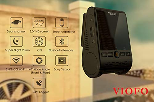 VIOFO A129 Duo with CPL Add-On and Installation Tool Kit | 2 Channel 1080P Front and Rear Dash Camera | WiFi GPS Mount Included | 3-Wire Hardwiring Kit, Installation Kit and CPL Filter Included by WYNT (Image #3)