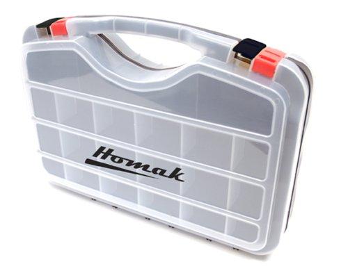 Homak Double Sided Plastic Organizer, HA01423075 Double Sided Organizer