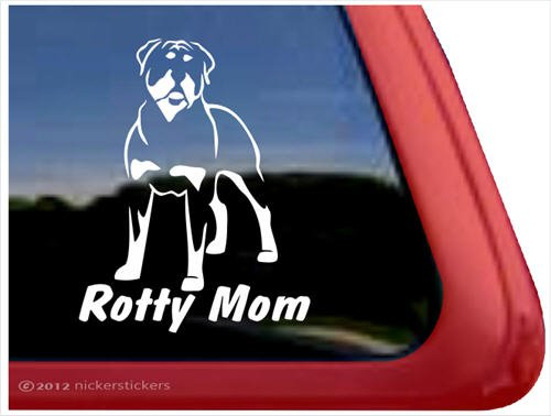 Rotty Rottweiler Vinyl Window Sticker
