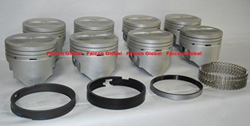 Ford Flat Top - 1969-76 Ford 360 390 FE Speed Pro Hypereutectic Flat Top Pistons+MOLY Rings Kit. (4.090