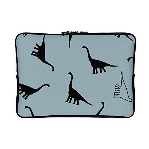 DKISEE Abstract Dinosaurs Neoprene Laptop Sleeve Case Waterproof Sleeve Case Cover Bag for MacBook/Notebook/Ultrabook/Chromebooks