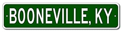 Custom Aluminum Sign BOONEVILLE, KENTUCKY US City and State Name Sign