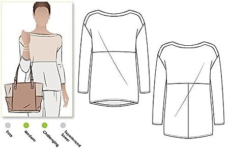 Sizes 04-16 /Melinda Knit Tunika Stil Arc Schnittmuster/