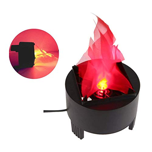 Portable Electronic 3W LED Fake Fire Flame Simulated Flame Effect Light Campfire Centerpiece with Pot Bowl for Halloween Christmas Night Clubs Party Home Decor (US -