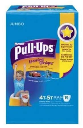 51433104 Toddler Training Pants Pull-Ups Learning Designs Pull On 4T - 5T Disposable Heavy Absorbency