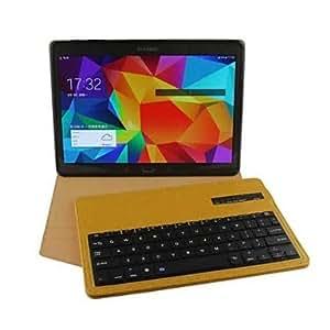 HC- abs cuero protectora bluetooth inalámbrico caso de la cubierta del teclado desmontable para t800 pestaña samsung s (colores surtidos) , Amarillo