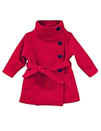 Lemonkids Kids Girls Winter Double-Breasted Tunic Tweed Wool Outfit Coat