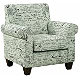 Coaster Home Furnishings 37 in. Casual Accent Chair in Gray