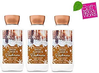 Lot of 3 Bath & Body Works Snowflakes & Cashmere Shea & Vitamin E Body Lotion 8 fl oz each