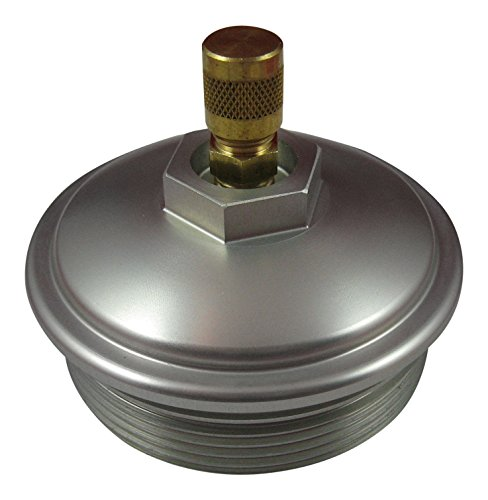 AccurateDiesel 6.0L Powerstroke Billet Aluminum Fuel Filter Cap with Schrader Valve for Testing Fuel Pressure