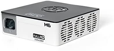 AAXA M6 Full HD Micro LED Projector with Built-in Battery – Native 1920 x 1080p FHD Resolution, 1200 Lumens, 30,000 Hour LEDs, Onboard Media Player, Business/Home Theater Use 41RoamalNzL