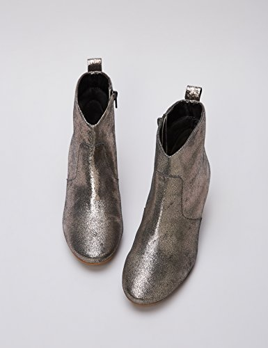 Stivaletti Dusted Metallic Western Grigio Donna FIND Pelle Metallic in Dusted 1RnwT