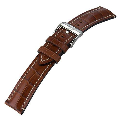 Di-Modell Bali Chrono Leather Watch Strap, Gold, 24mm