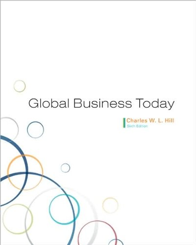 Global Business Today (text only6 edition) by C.V.L.Hill pdf epub