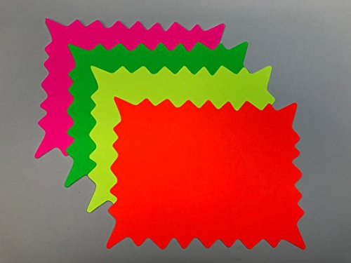 FBR350 - Fluorescent Rectangular Burst Price Blank Cards