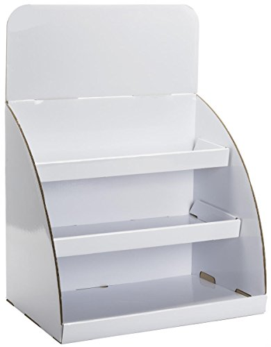 Countertop Cardboard Display with Removable Header, Set of 10 – White (AMZTBSH3WT) ()
