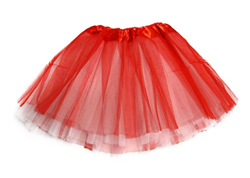 Two Toned Tutu (Girls Toddler Two Toned Reverse Tutu Dress Skirts - Red/White)