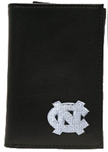 SANDOL North Carolina Tar Heels Men's Black Tri-fold Wallet