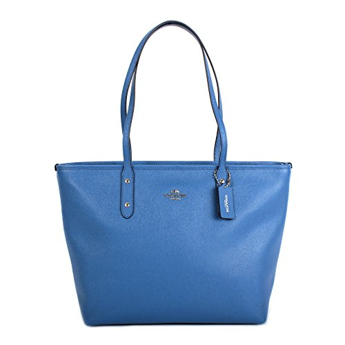 Coach Crossgrain Leather City Zip Tote Bag Purse Handbag,...