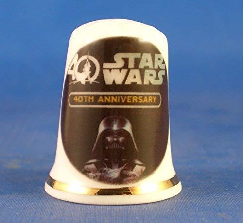 Porcelain China Collectable Thimble - Star Wars 40th Anniversary -- Free Gift Box Birchcroft China