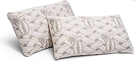 Don Descanso - Pack 2 Almohadas de Viaje Viscoelásticas Bamboo (42 x 24cm), Ergonómicas y Transpirables. Ideal para Coche y Avión, Alivia la Fatiga, Apoyo de Cabeza y Cuello. Fabricadas en España