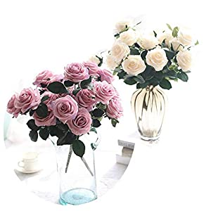 Endand Fake Flowers Artificial Bouquets 10 Heads Rose Bouquet Decoration Living Room Decorative Table Floral Silk Artificial Flowers 65