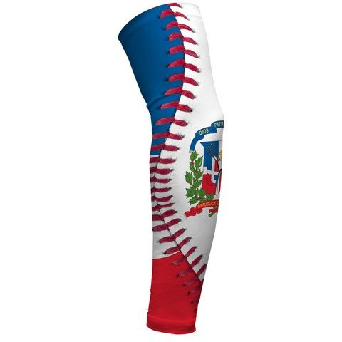 636982cf9b2 Amazon.com  Dominican Republic Flag Baseball Lace Arm Sleeve Youth ...