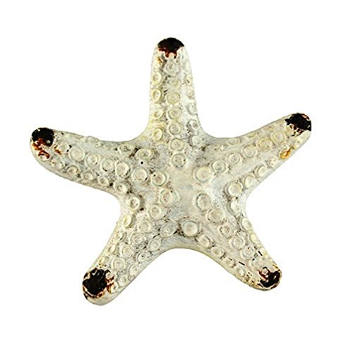 Antique White Starfish Cabinet Pull Copper Distressed Handle Pulls