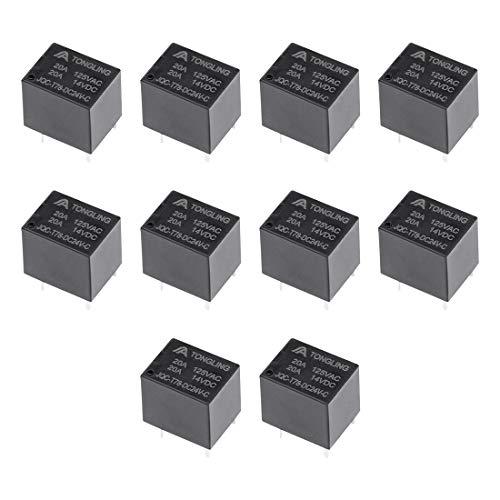 uxcell 10 Pcs JQC-T78-DC24V-C DC 24V Coil SPDT 5 Pin PCB Electromagnetic Power Relay NO+NC ()