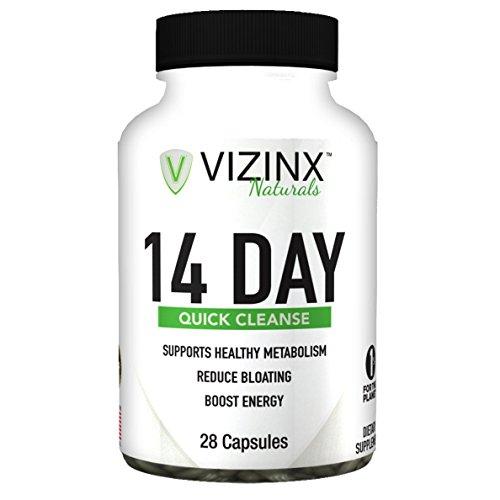 VIZINX de 14 Jours nettoyage Rapide - favorise L'Élimination des Toxines Et des Déchets lors de la Restauration des Bactéries Saines niveaux. Améliore l'Énergie et la Santé Digestive, Réduit le Ventre, Ballonnements, la Perte de Poids Saine