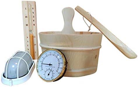 Cuill/ère en bois 41/cm Louche Louche en bois pour sauna Truelle Louche Cuill/ère en bois