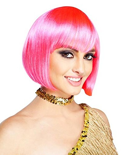 Deluxe Hot Pink Sassy Wig (Sassy Wigs)