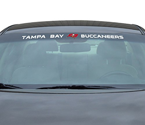 Team ProMark NFL Tampa Bay Buccaneers Windshield Decal, Red, ()