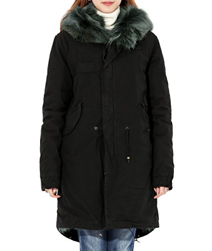 wiberlux-mr-and-mrs-italy-womens-coyote-fur-lined-field-coat-fur-trimmed-hood-xs-black